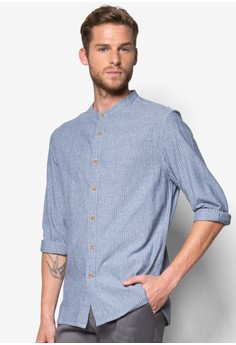 Long Sleeve Grand-Dad Collar Shirt