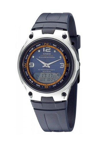 Casio blue Casio Jam Tangan Pria - Blue Silver - Resin - AW-82-2AVDF 9B352ACF62F19FGS_1