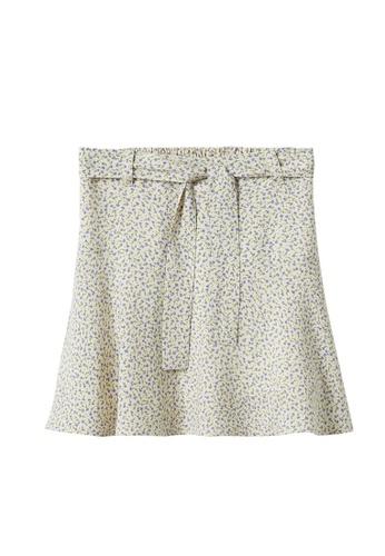 MANGO KIDS beige Floral Print Skirt A0568KAA2896D5GS_1