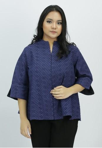 House of Kain blue Blouse Batik Dobi Obnaesel Biru Dongker AC7F4AA39AD209GS_1