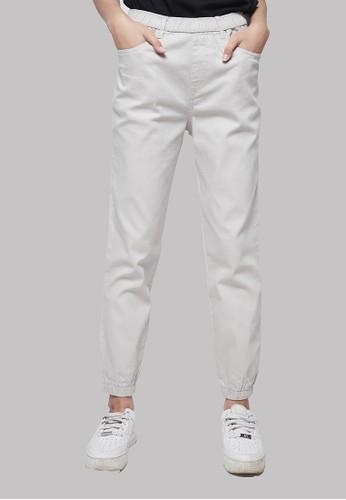 IHANG white IHANG Soft Denim Jogger Pants Broken White 6CA05AAC0BD6A3GS_1