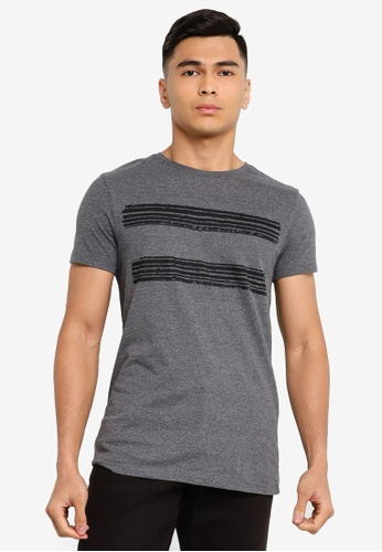 Trendyol grey Gray Printed Slim Fit T-Shirt C872DAA954047AGS_1