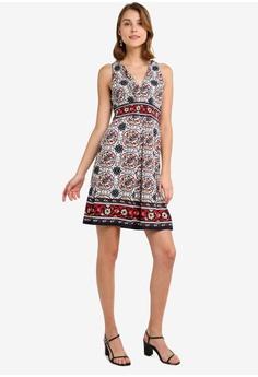 6b3675adba7 Max Studio Patterned V Neck Jersey Dress RM 189.00. Sizes S M L