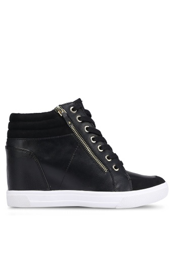 ALDO black Kaia Wedge Sneakers AL087SH0RL9BMY_1