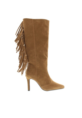 Beira Rio brown Knee High Classy Tasseled Boots BE995SH36XETHK_1