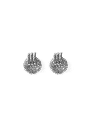 FAWNXFERN silver Mesh and Loop Earrings in Silver DFA96AC05B13EFGS_1