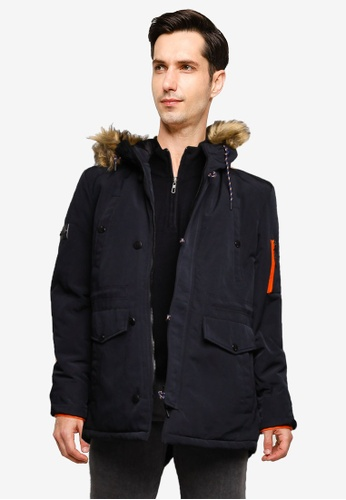 Indicode Jeans black Bowser Hooded Parka Jacket 4CC49AA5016446GS_1