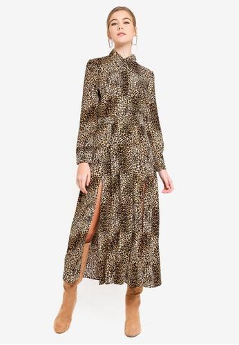 8447aa8b44a8 Buy TOPSHOP Animal Midi Shirt Dress Online on ZALORA Singapore