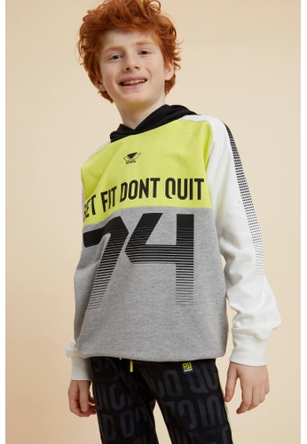 DeFacto grey Boy Knitted Sweat Shirt 89C62KA4777B3DGS_1
