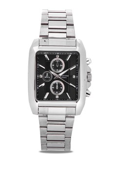 Analog Watch with Black Dial Silver Index 20121846