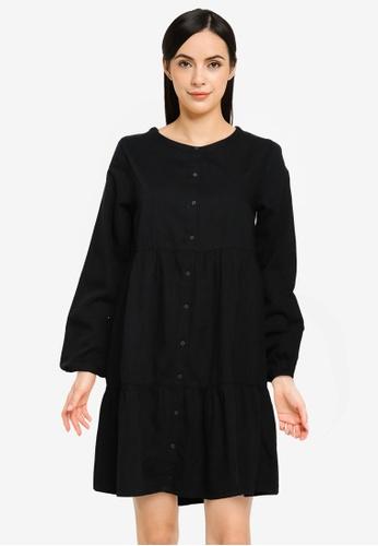Springfield black Loose Tencel Denim Dress D2311AA3D4F1CEGS_1