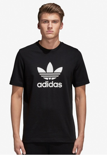 the best attitude f72c5 ea944 adidas black adidas originals trefoil t-shirt 1128CAA1CDC424GS 1