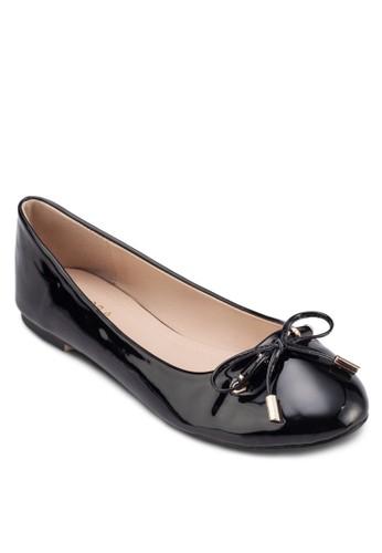 蝴蝶結漆面娃zalora 內衣娃鞋, 女鞋, 芭蕾平底鞋