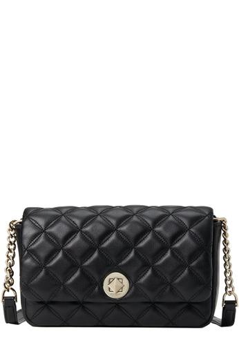 Kate Spade black Kate Spade Natalia Flap Turnlock Crossbody Bag in Black A651AACCDE00FBGS_1