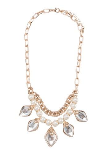 寶石珍珠吊飾項鍊esprit home 台灣, 飾品配件, 項鍊