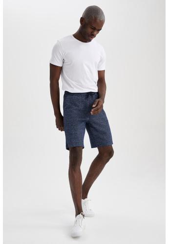 DeFacto blue Regular Fit Sweatshirt Bermuda Shorts 243EDAABABB32EGS_1