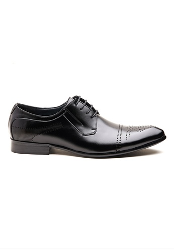 Kings Collection black Lindell Leather Shoes 1555ASHE470753GS_1