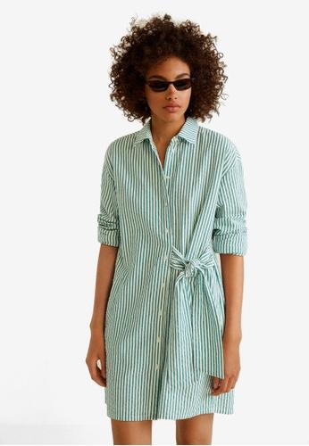 Mango green Bow Cotton Dress CDB61AA96F8CB4GS_1