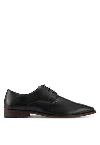 KG Kurt Geiger black Zac Leather Derby Shoes KG303SH0T1APMY_1