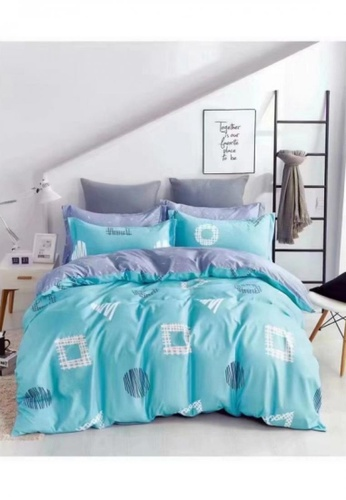 Bedding Day Bedding Day - Soft Microfiber Print 700TC Fitted Sheet Set - Ichimatsu B5182HL3034821GS_1