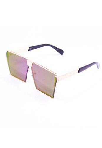 Amora Scarlett Roaring Beast Oversized Violet Transition Gold Frame Eyewear AM058AC62EHHMY_1