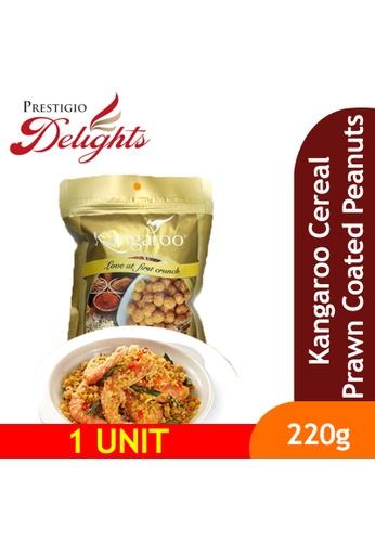 Prestigio Delights Kangaroo Cereal Prawn Coated Peanuts 220g B74D6ES9CC0BF4GS_1