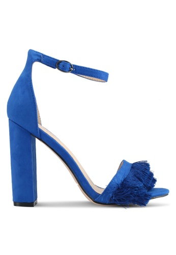 Public Desire blue Pepper Frill Toe Detail Heels 04333SH0AF7C52GS_1