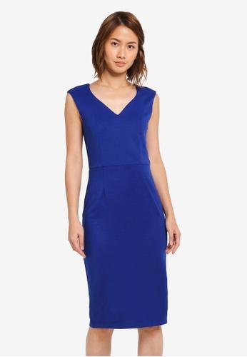 ZALORA blue Sweatheart Dress 4D89DAA635D546GS_1