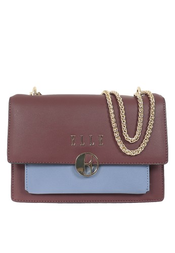 ELLE red Sling Bag Elle 41142 Burgundy Blue B6600AC7B0B26AGS_1
