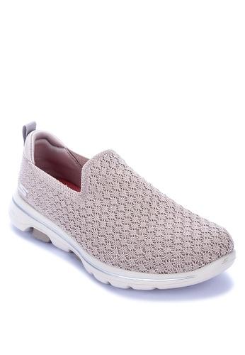 Skechers brown Go Walk 5 Brave Slip On Sneakers 02DFESHDB415E2GS_1