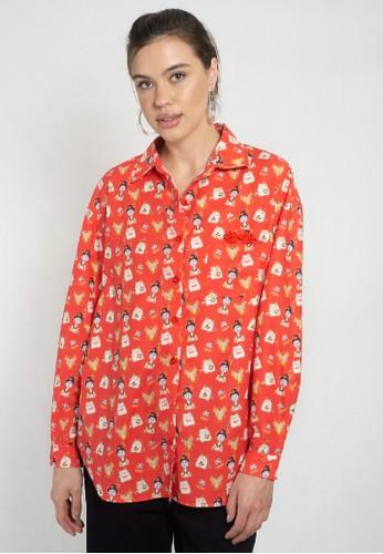 Orlin red ORLIN Varda Long Sleeve Shirt 03DE8AABA5CDF9GS_1