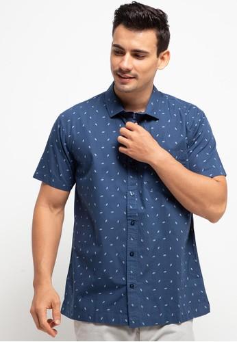 Ocean Pacific blue Men's Shirt Short 99389AA144E833GS_1