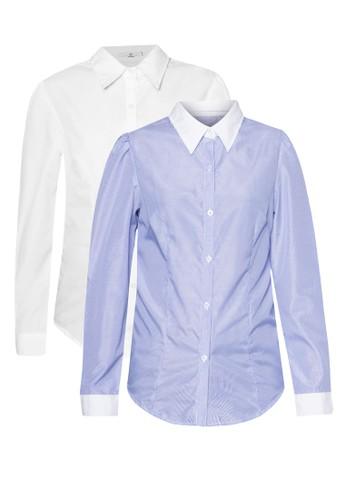 Iris & Inez 二入組長袖襯衫, 服飾, zalora taiwan 時尚購物網襯衫