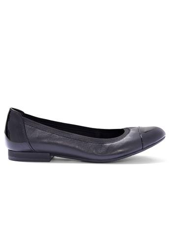 Shu Talk black Stylish simply Bi Leather Ballet Flats SH397SH0H9SKSG_1