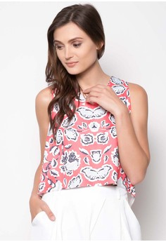Dylan High-Low Cropped Top