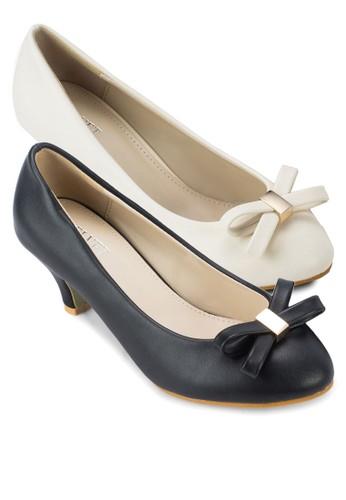 二入組Jacinta 蝴蝶結仿皮zalora是哪裡的牌子高跟鞋, 女鞋, 厚底高跟鞋