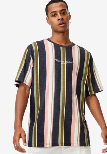 Cotton On navy Downtown T-Shirt 84EEBAAFF7A5FBGS_1