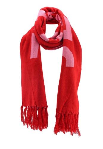 Buy Miss Selfridge Red Slogan Scarf Zalora Hk