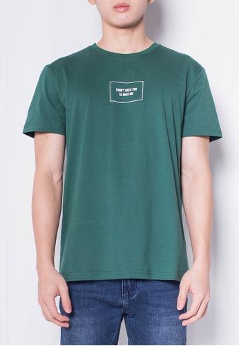 SUB green Men Short-Sleeve Graphic Tee 19636AAD991483GS_1