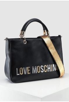 549319676309 Love Moschino Pebble Grain Top-Handle Bag S  429.00. Sizes One Size