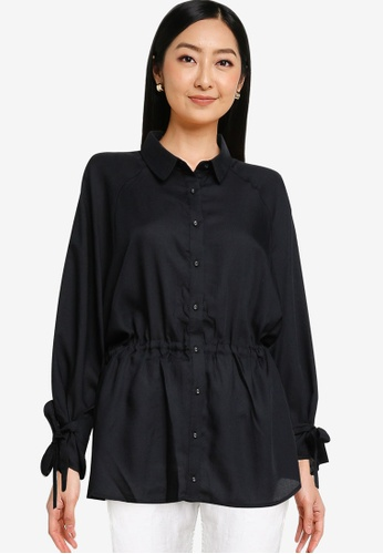 Heather black Plain Shirt C1F2CAA5736209GS_1