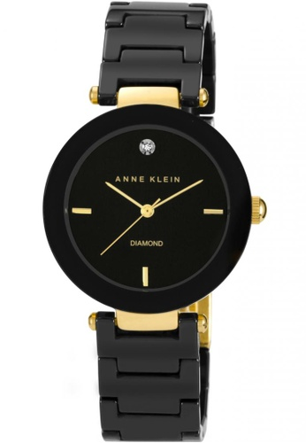 Anne Klein black Anne Klein Ladies - Diamond Dial Ceramic Watch (AK-1018BKBK) - Black/Gold AN080AC95TROSG_1