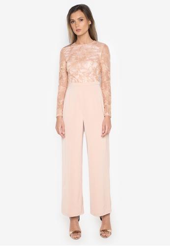 NOBASIC pink Applicated Elegant Jumpsuit NO444AA0FQHMSG_1