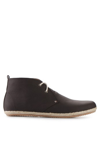Minarno brown Brown Faux Leather Boots MI641SH21QUCID_1