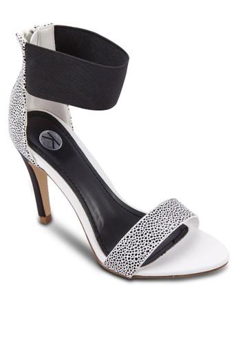 彈性踝帶拉鍊高跟涼鞋,zalora 心得 女鞋, 鞋