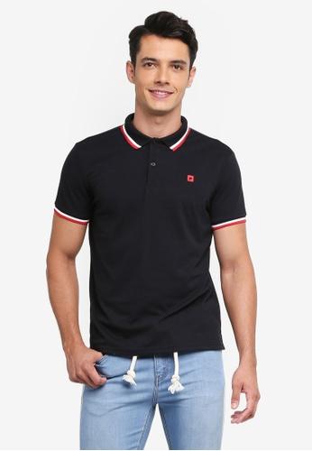 Penshoppe black Contract Tip Polo Shirt FADBCAA5B8CAE3GS_1