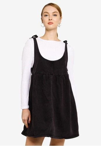 Cotton On black Denim Baby Doll Mini Pini Dress BCB80AAEA2C1E9GS_1