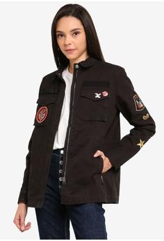 10b539d2 Superdry black Rookie New Army Jacket 3055BAAC4A4324GS_1