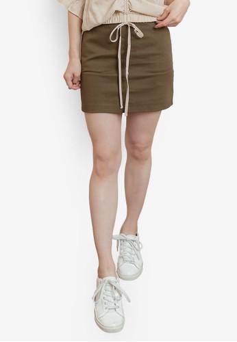 Tokichoi green Pockets Mini Skirt 16865AADAD7267GS_1