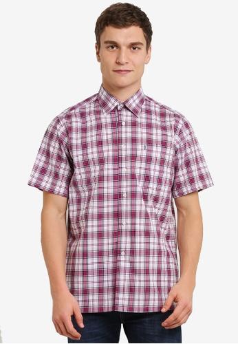 BGM POLO 多色 Checkered 短袖襯衫 BG646AA0S0KIMY_1